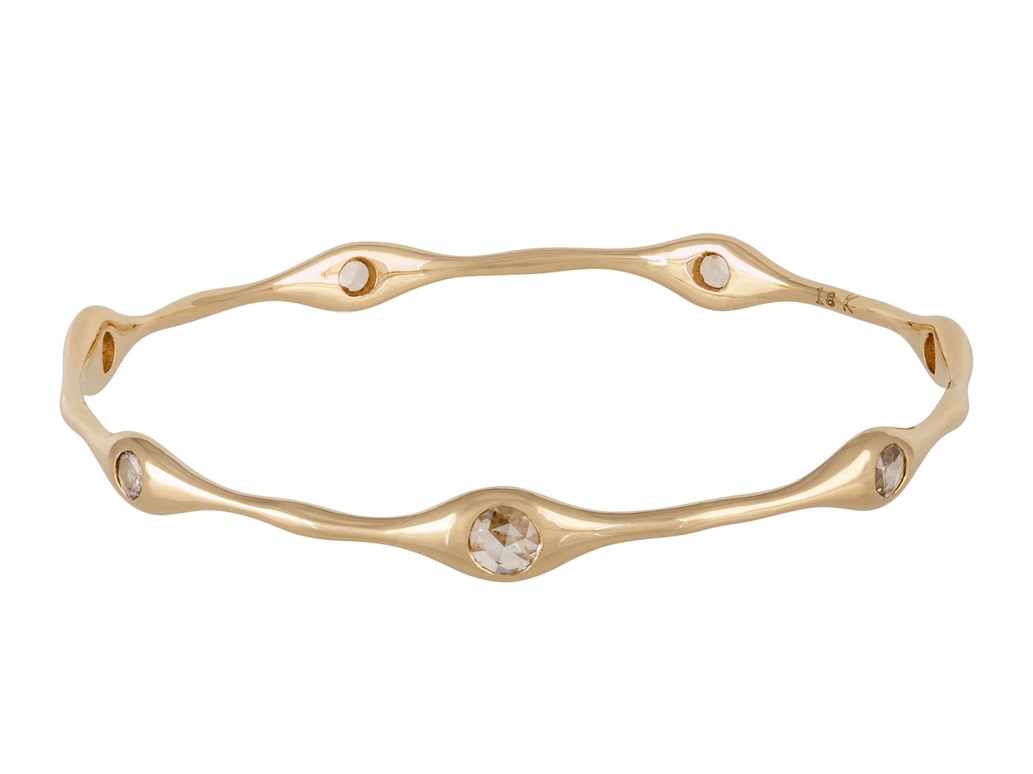 bangle gold diamond white bangles