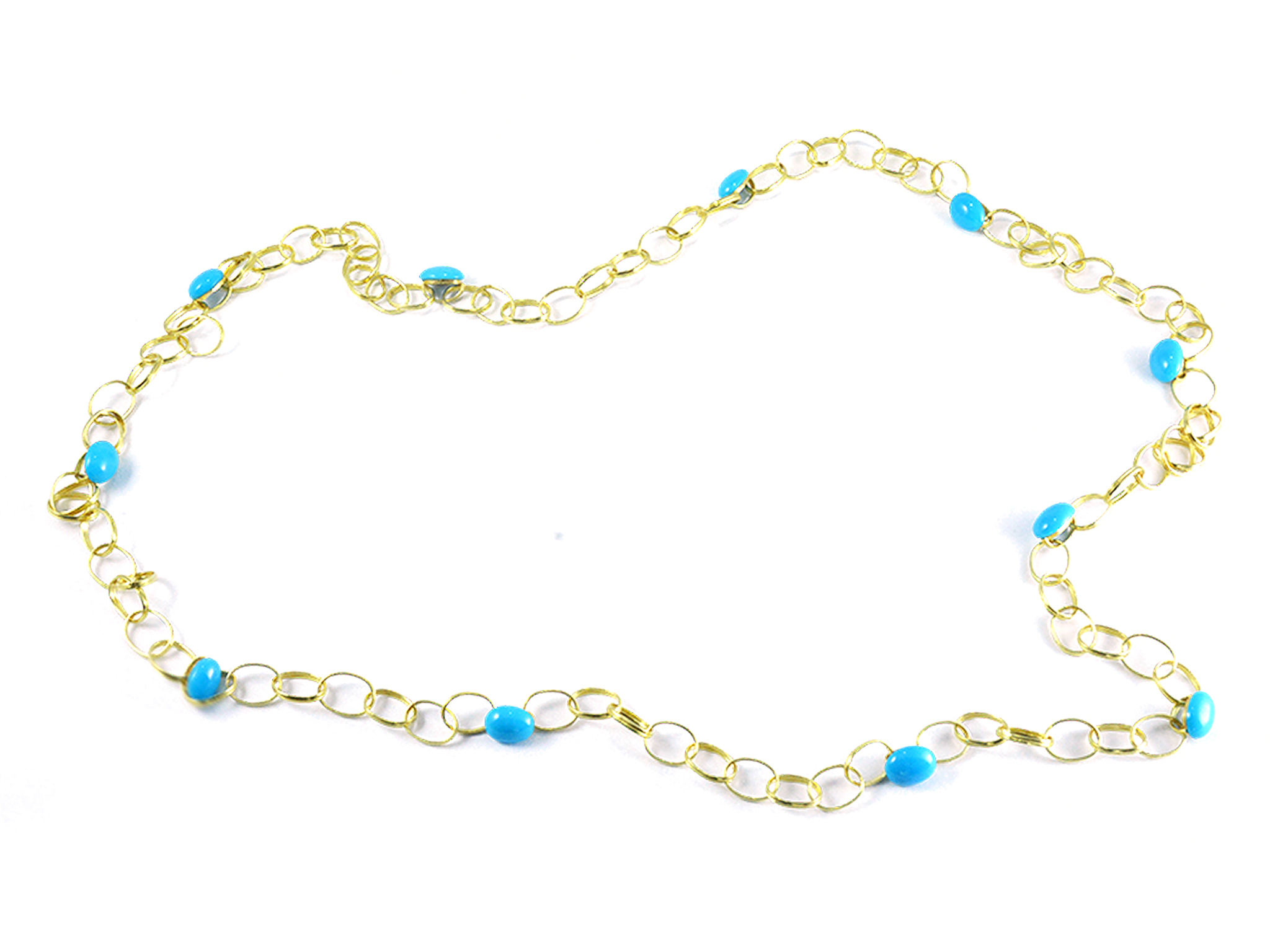turquoise necklace com qvc spiderweb blossom page american squash west product
