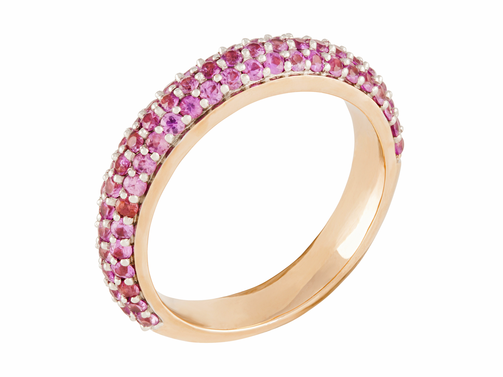 lugaro band rings pink in of wedding bands diamond current and gold rose ideas